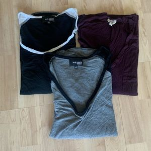 Lot of 3 Aritzia-wilfred free top